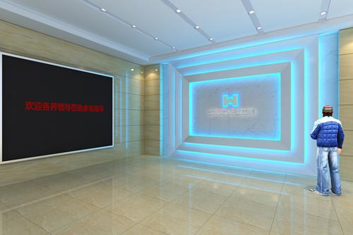 武汉华科联合实验室展厅装修图片